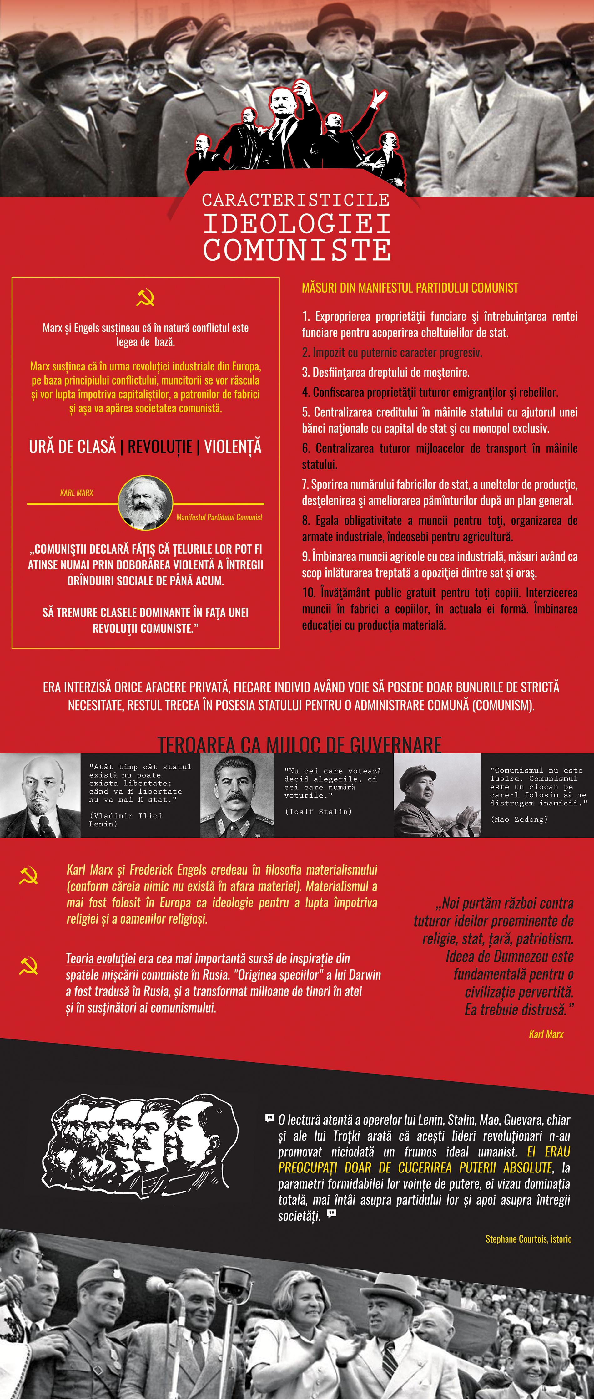 Caracteristicile ideologiei comuniste - Bannerul 05 - Caravana Eroilor